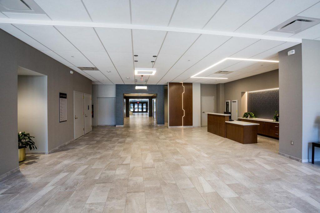First Floor Lobby at 3 City Center