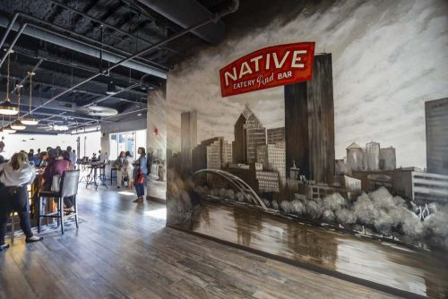 Lorraine Staunch Mural at Native Eatery and Bar